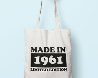 Made In 1961 Limited Edition Tote Bag Long Handles TB1724