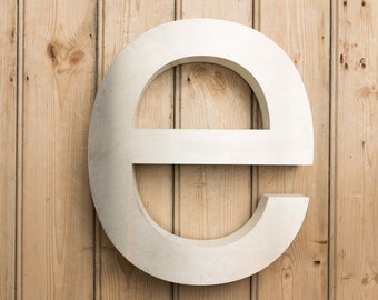 Vintage Letter e, small letter e, wall art, home decor, signs, signage, letter e, industrial letter, shop sign, lower case, initial e