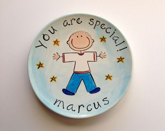 you are special custom ceramic plate for boy