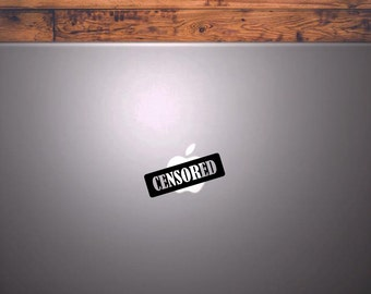 Macbook & Pc Sticker Censored