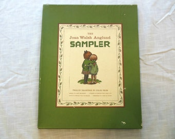 Joan Walsh Anglund Sampler, 12 Prints, Children, Nature, 1958-1963, Christmas, Maypole, Friends, Fishing, Swing