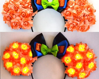 Light-Up Goofy Floral Mouse Ears