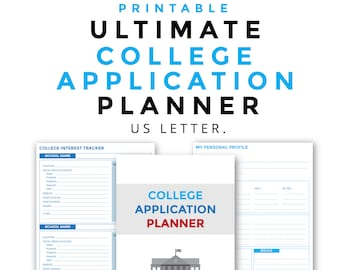 Ultimate College Application Planner Printable