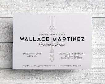 Company Dinner Invitation, Company Event, Corporate Dinner, Dinner Invite, Dinner Event, Fork Invitation, Corporate Invite, Company Party