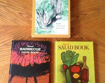 Vintage Sunset Salad and Barbeque Cookbook Set - 1962