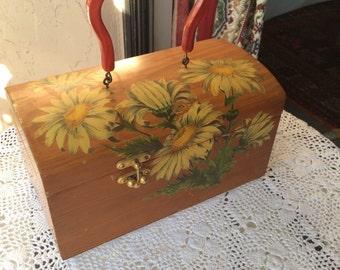 Vintage wooden box bag