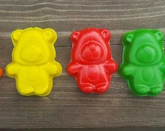 Teddy Bear Crayons Set Of 10 - Bear Crayons - Teddy Bear Crayons - Teddy Bear Party - Bear Party Favors - Kids Teddy Bear Gifts - Crayons