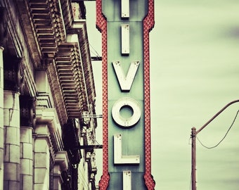 Tivoli Theater Sign, Chattanooga Art Photography, Family Room Wall Decor, Tennessee, Media Room Art