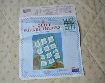 Vintage Quilt Squares of Frogs for Embroidery