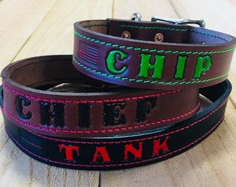 Leather Dog Collar Custom