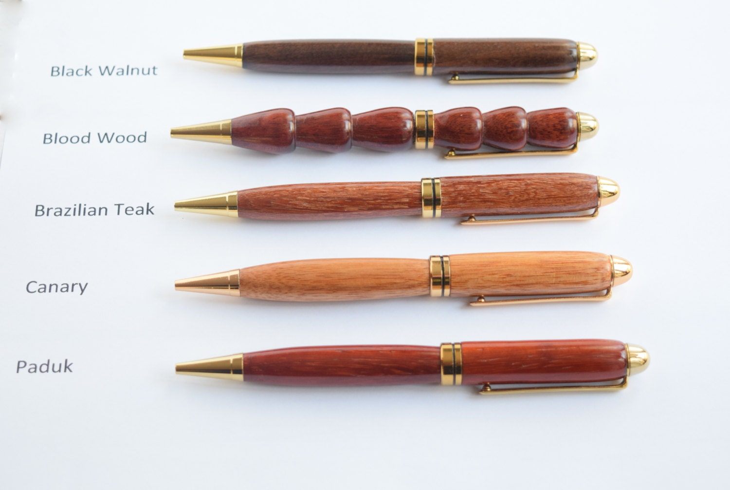 High Quality Wood Signature Pen Wood Ballpoint Pen Black Notepad Metal  Bookmark Business Gifts Personalized Custom