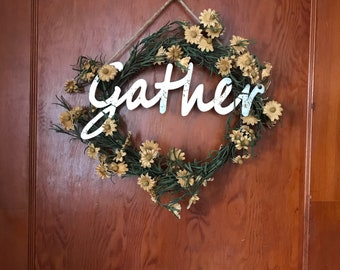 Gather Tea Stained Wreath