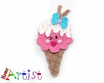 Icecream Crochet Applique