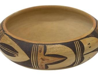 Native American, Historic Hopi Poly Chrome Pottery Bowl, by Elva Nampeyo, Ca 1950's-1960's, #1133