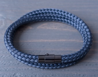 Mens bracelet, Mens Rope Bracelet, Navy Men Bracelet, Mens Jewelry, Mens gift, gift for him, for men