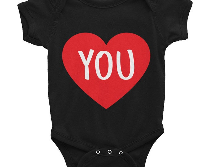Heart You Oneside Bodysuit | Gift for Mom, Gift for Dad, Gift for Baby, Toddler, Father's Day Gift, Mother's Day Gift