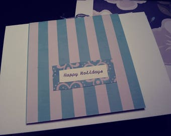 Blues Handmade Holiday Greeting Cards