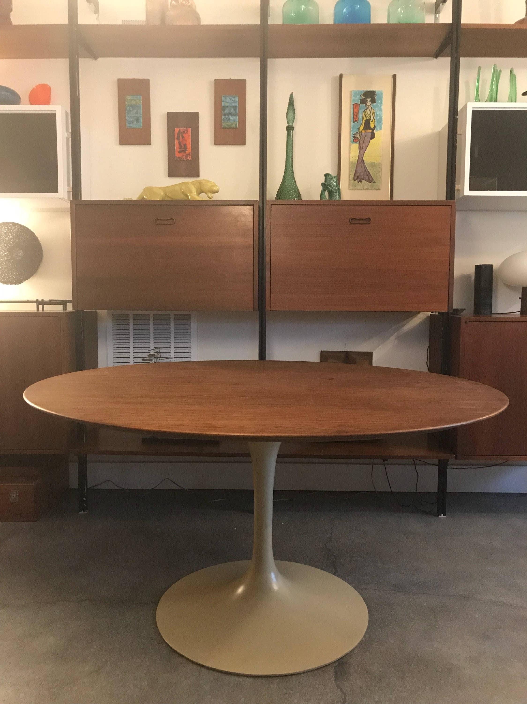 Vintage Eero Saarinen Walnut Tulip Dining Table For - Walnut tulip dining table