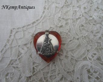 Glass rosary holder 1920's