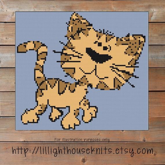 Cat Crochet Pattern Graph Crochet Corner To Corner C2c