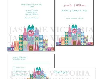 Small World Wedding Invitation, Save The Date, or RSVP