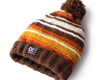 Sunset beanie / Winter hat / Knit hat / Crochet hat / Pompom hat / Snowboard hat / Ski hat / Alpaca beanie / Ribbed beanie / Vacation beanie