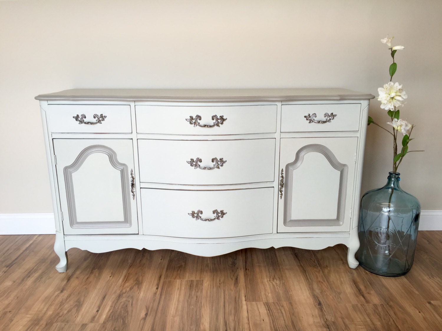 Buffet Sideboard   French Provincial Dresser   Dining Room Server   Antique  Buffet Table   French Provincial Furniture   Vintage Buffet