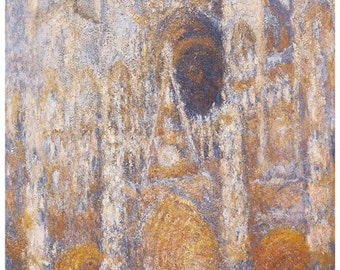 Hand-cut wooden jigsaw puzzle. ROUEN CATHEDRAL. Claude Monet. Impressionist. Impressionism. Wood, collectible. Bella Puzzles.