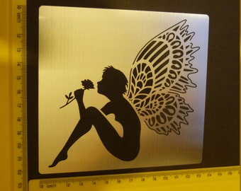 Stainless Steel Lace Wing Fairy Stencil