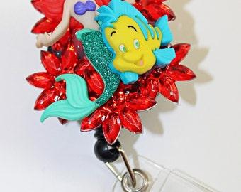 Ariel Badge Reel w/ Flounder! - Disney