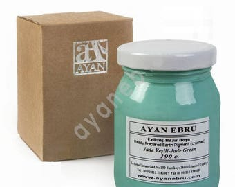 Ebru Marbling Paint Colors-Pigment Jade Green (Ayan)