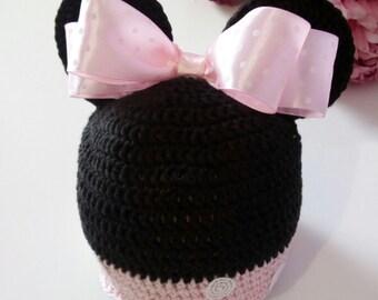 Minnie Crochet hat/baby Minnie hat