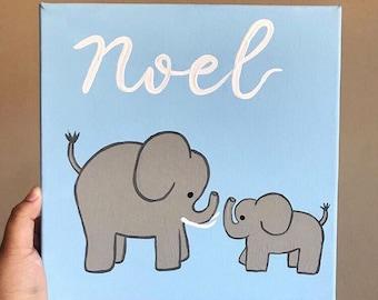 Elephant Nursery Canvas