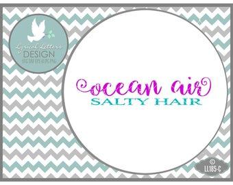 Ocean Air Salty Hair  LL185 C - Beach SVG - Cut File - Includes ai, svg, eps, dxf (for Silhouette), jpg, png