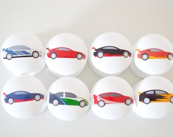 Car Drawer Knobs, Car Drawer Pulls, Door Knobs And Pulls, Children's Room, Boys Room, Knobs, Dresser Knobs, Kids Knobs.