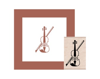 Violin Rubber Stamp