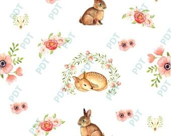 Deer rabbit stickers