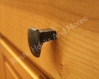 Railroad Spike Cabinet Knob, Railroad Spike Drawer Pull, Railroad Spike, Rustic Drawer Pull, Unique Drawer Pull, Unique Knob, Cabinet Knob.
