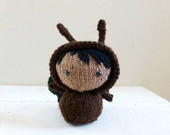 Cute Stuffed Animal, Baby Doll, Small Stuffed Animal, Ready to ship - Butterfly Baby Belinda