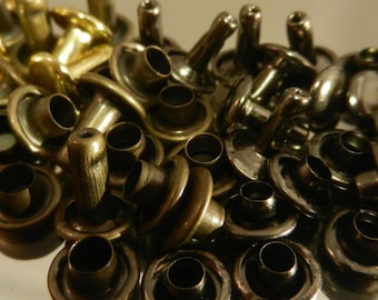 RIVETS-For Leather or Metal-Double Cap Rivets-50pk- Medium-