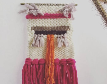 Pink passion wall weaving