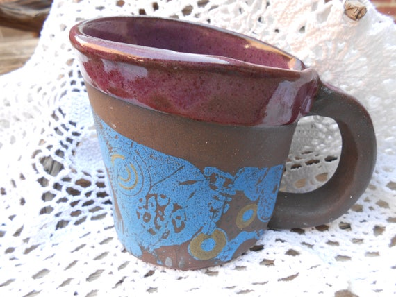 Grapevine Hand Built Ceramic Mug