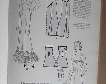 Vintage 30s 40s sewing book - Pictorial Guide to Modern Home Needlecraft - 1930s 1940s needlework patterns lingerie dressmaking millinery