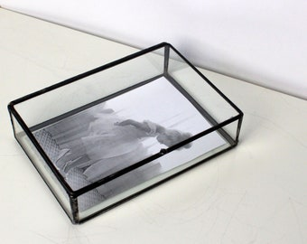 Clear Glass Photo Box / Clear Glass 3.5 x 5 Proof Box / Photographer Package / Jewelry Box /Wedding Gift