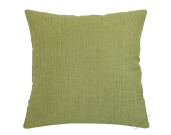 Olive Green Cosmo Linen Decorative Throw Pillow Cover / Pillow Case / Cushion Cover / 20x20""