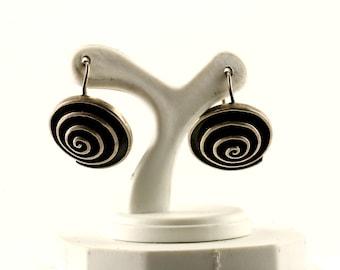 Vintage Twisted Design Stud Earrings 925 Sterling Silver ER 908