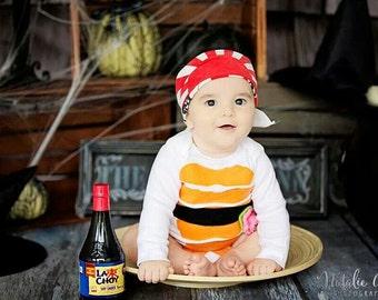Sushi Baby Costume, Baby Halloween Costume, Sushi Costume, Funny Baby Costume, Baby Geekery, Halloween Costume Baby, Foodie Costume
