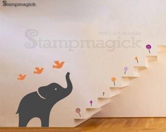 Elephant Vinyl Wall Decal Art Decor Sticker for Baby Nursery Children Kids Room - K071B
