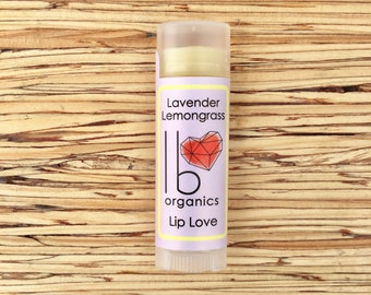NEW! // Lavender Lemongrass // Organic Lip Balm // lavender lovers