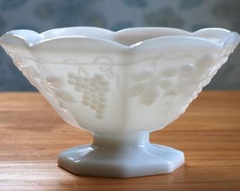 Vintage Milk Glass Fruit Bowl